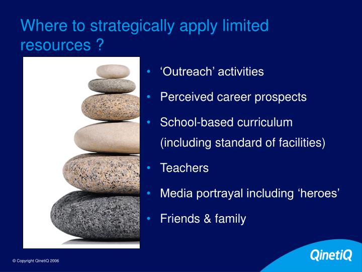 Where to strategically apply limited resources ?