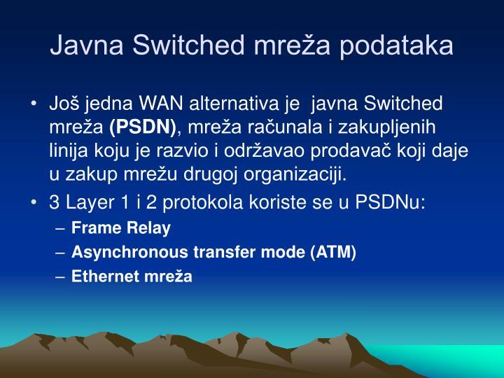 Javna Switched mreža podataka