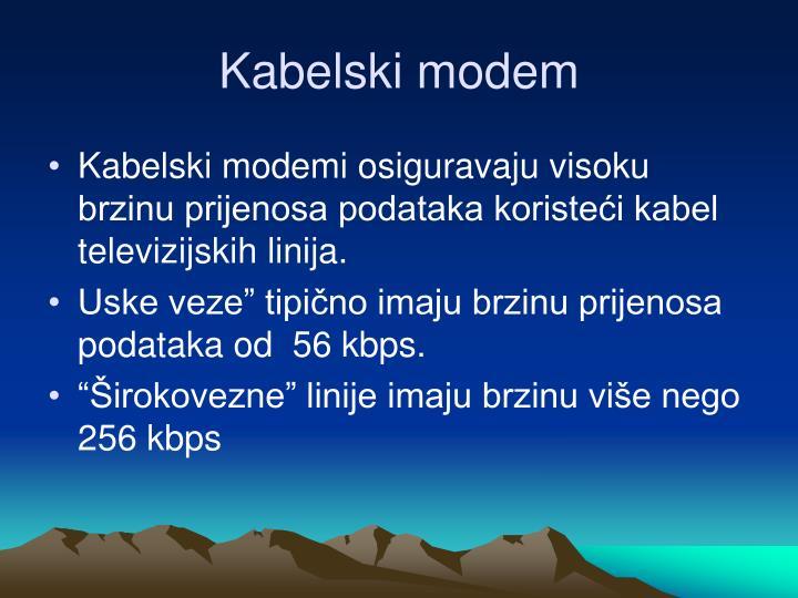 Kabelski modem