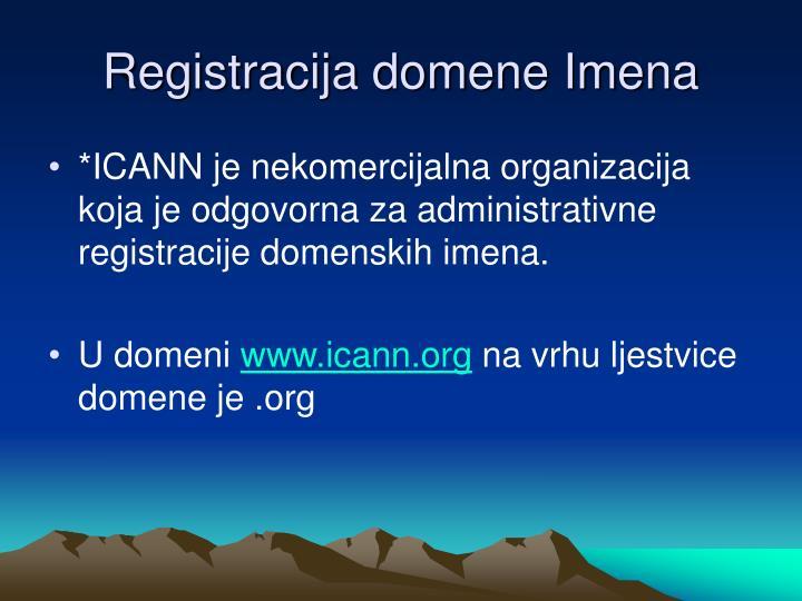 Registracija domene Imena