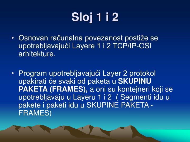 Sloj 1 i 2
