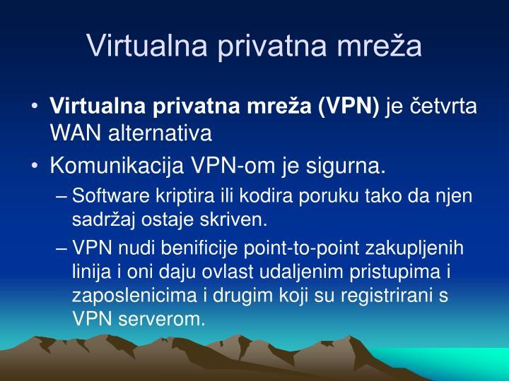 Virtualna privatna mreža