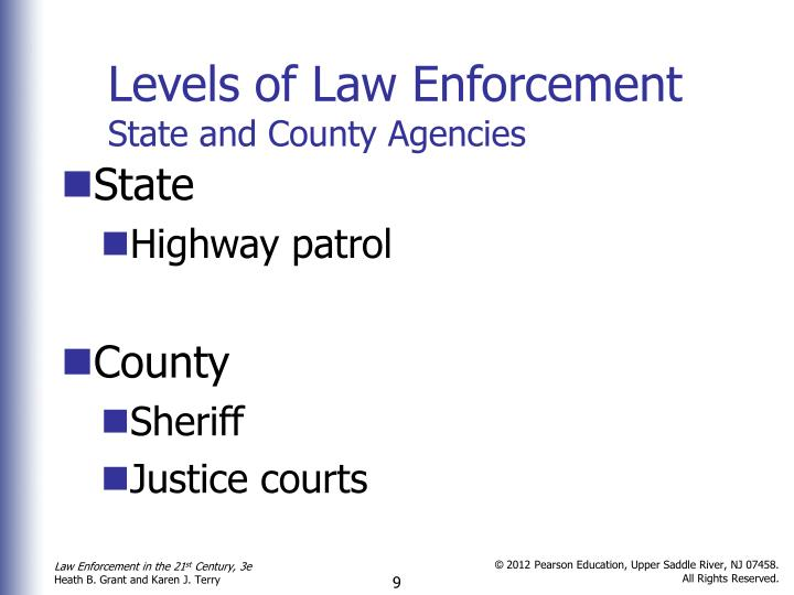 what are the three major levels of law enforcement