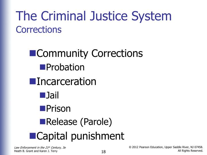 the criminal justice system 3 Collaborative problem solving for criminal criminal justice system these principles were at the heart of nic's criminal justice system project (cjsp), a 3.