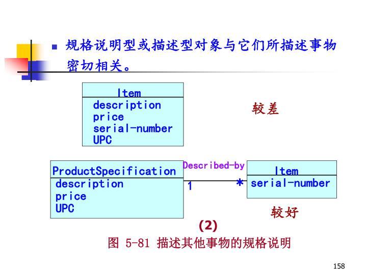 规格说明型或描述型对象与它们所描述事物