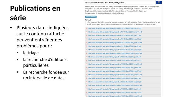 Publications en