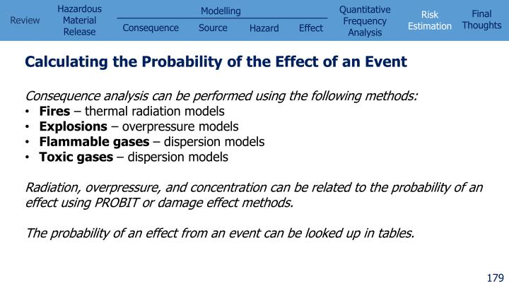 Calculating the Probability of the Effect of an Event
