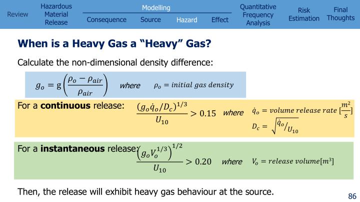 "When is a Heavy Gas a ""Heavy"" Gas?"