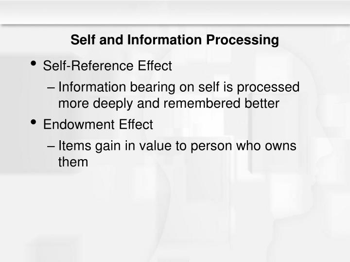 Self and Information Processing