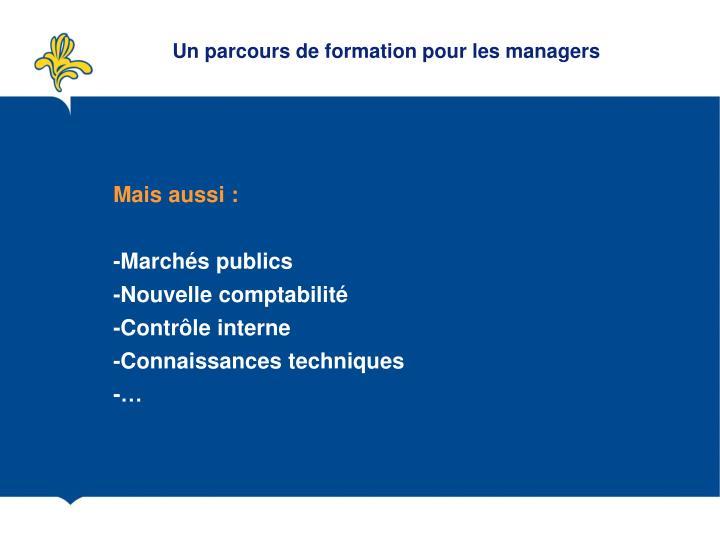 Un parcours de formation pour les managers