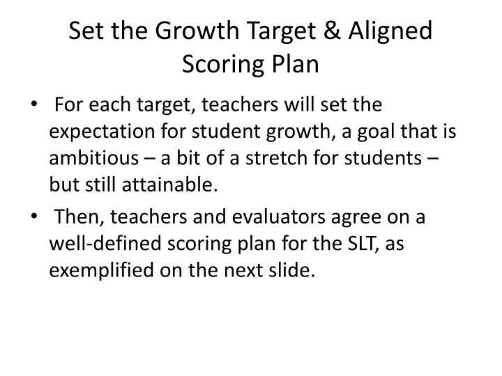 Set the Growth Target & Aligned Scoring Plan
