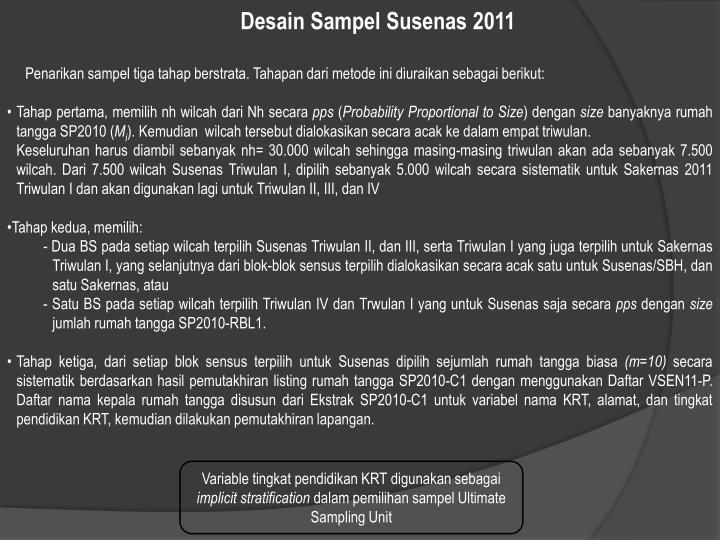 Desain Sampel Susenas 2011