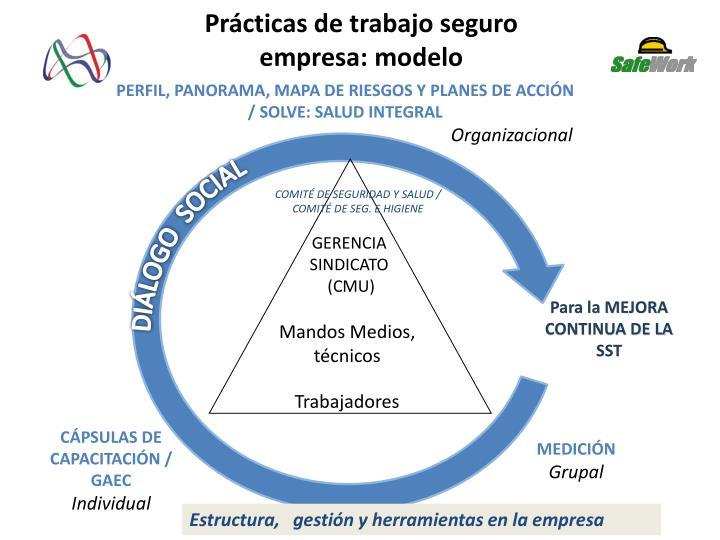 Prácticas de trabajo seguro empresa: modelo