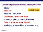 what do you notice about these phrases