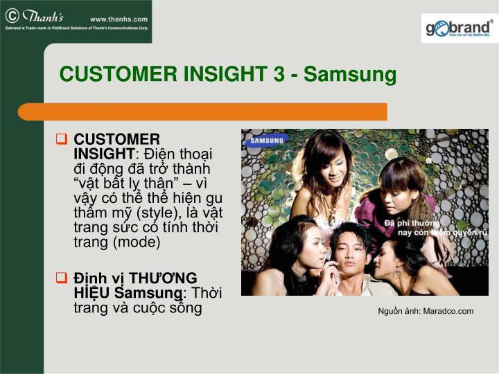 CUSTOMER INSIGHT 3 - Samsung