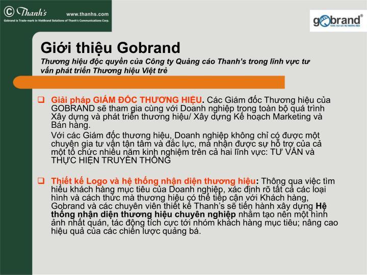 Giới thiệu Gobrand