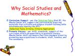 why social studies and mathematics
