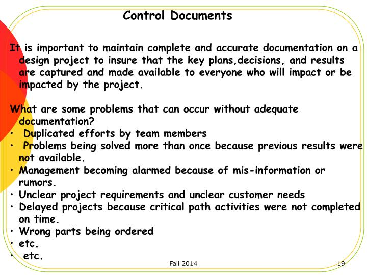 Control Documents