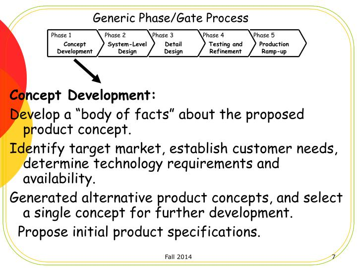 Generic Phase/Gate Process