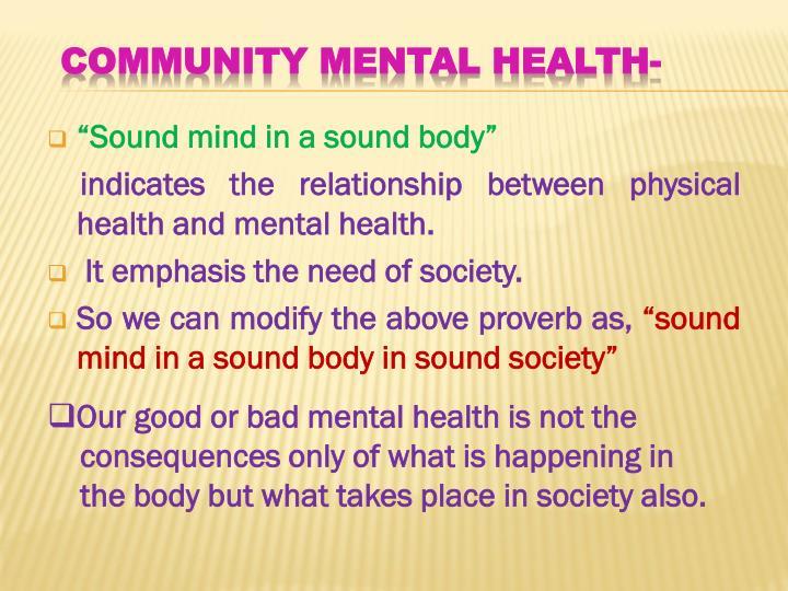 """""""Sound mind in a sound body"""""""