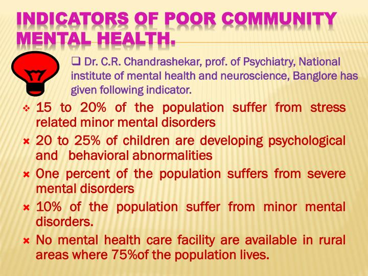 15 to 20% of the population suffer from stress related minor mental disorders