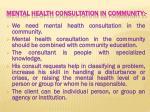 mental health consultation in community