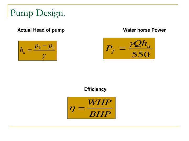 Pump Design.