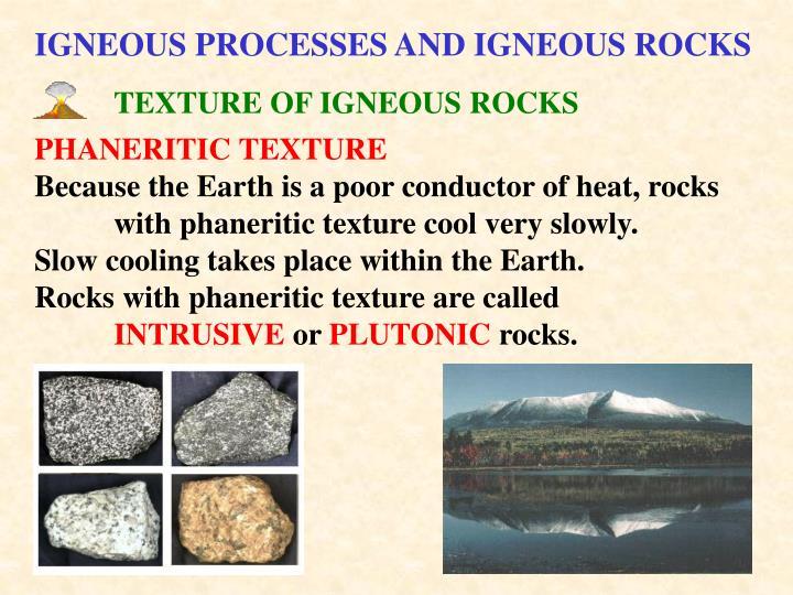 TEXTURE OF IGNEOUS ROCKS