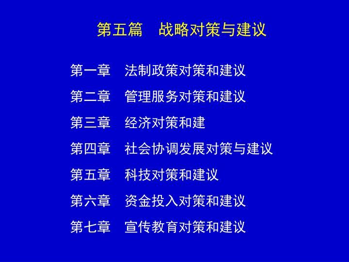 第五篇 战略对策与建议