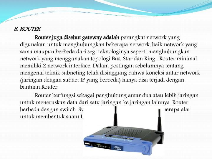 8. ROUTER