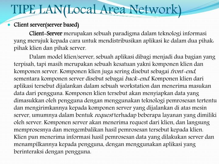 TIPE LAN(Local Area Network)
