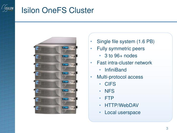 Isilon OneFS Cluster