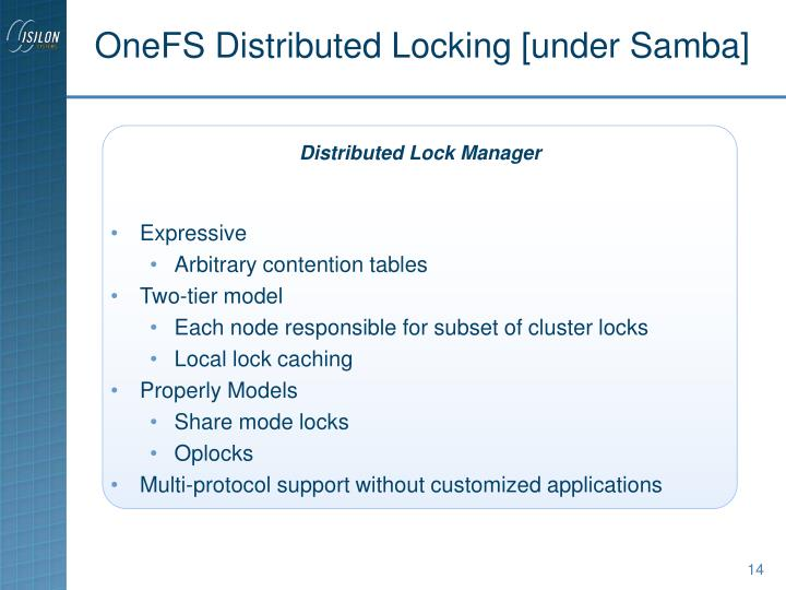 OneFS Distributed Locking [under Samba]