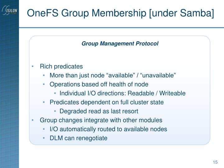 OneFS Group Membership [under Samba]