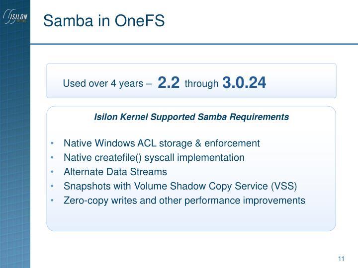 Samba in OneFS