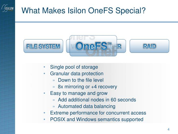 What Makes Isilon OneFS Special?