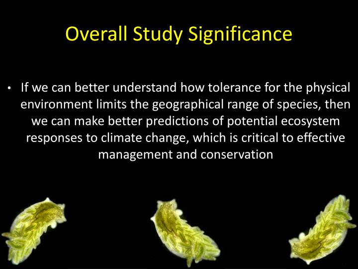 Overall Study Significance
