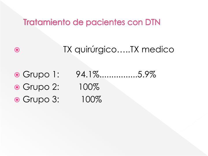 Tratamiento de pacientes con DTN