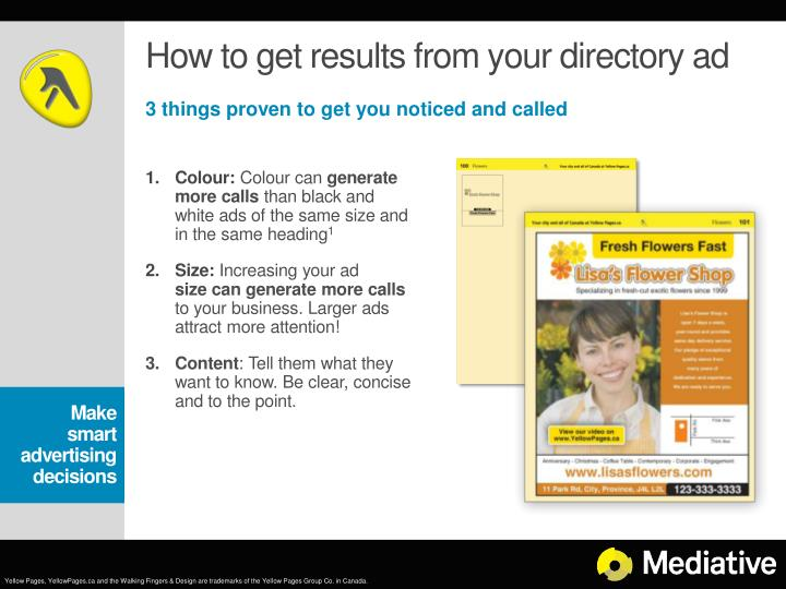 How to get results from your directory ad