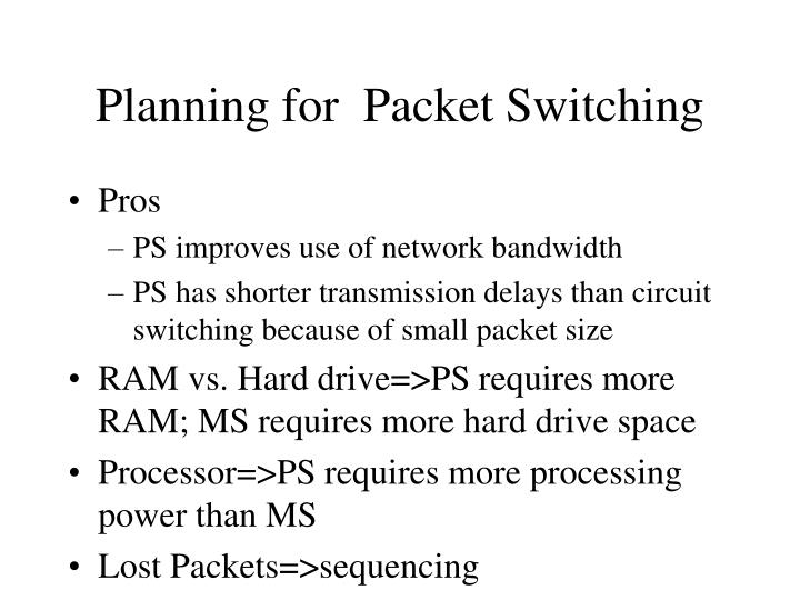 Planning for  Packet Switching
