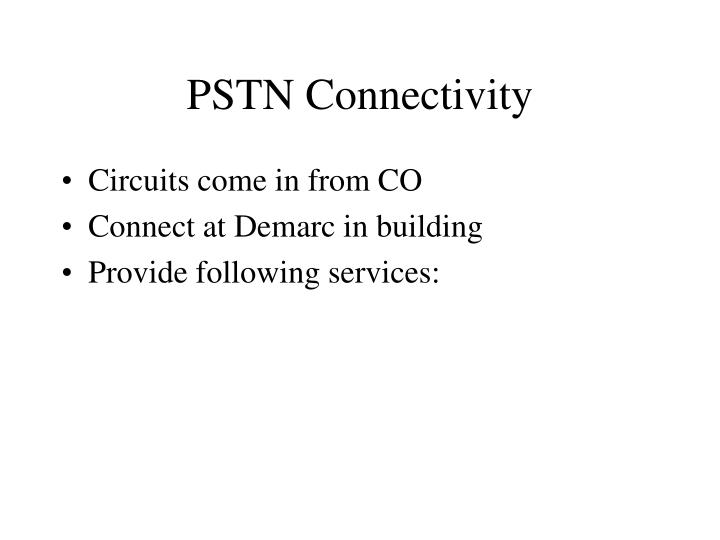 PSTN Connectivity