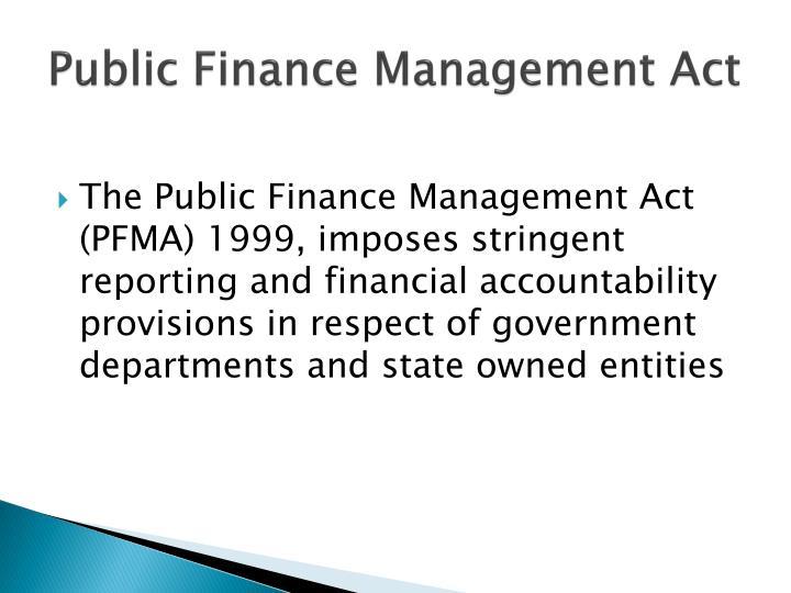 Public Finance Management Act