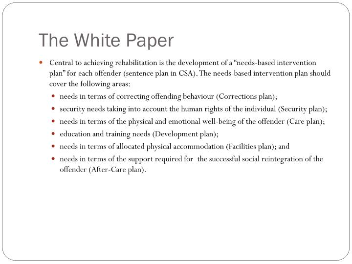 The White Paper