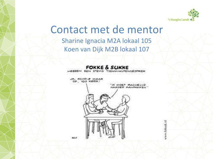 Contact met de mentor