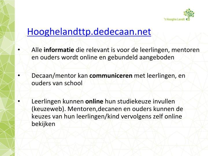 Hooghelandttp.dedecaan.net