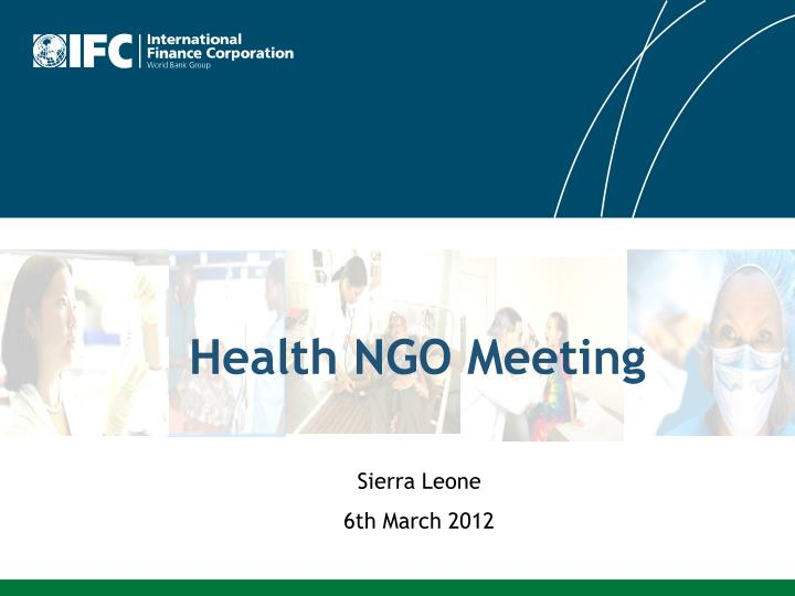 Health ngo meeting