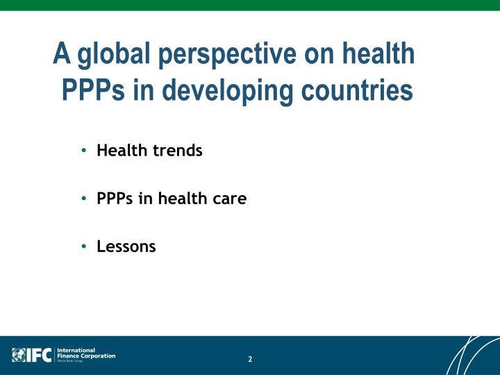 A global perspective on health