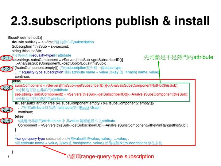 2.3.subscriptions publish & install