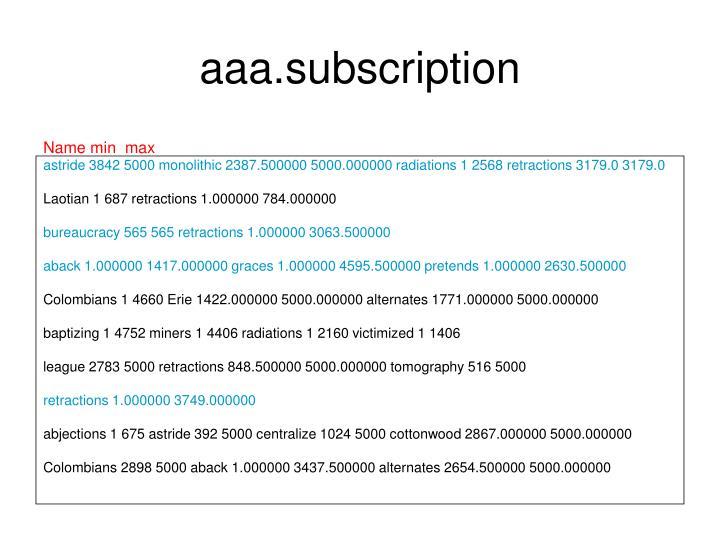 aaa.subscription