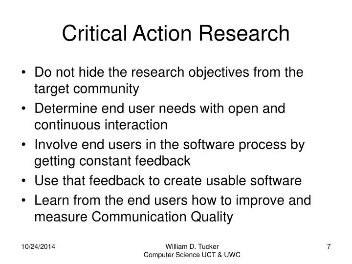 Critical Action Research